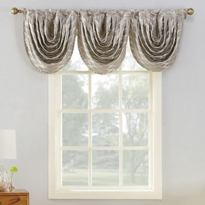 Sun Zero Atticus Room Darkening Window Valance In Mushroom