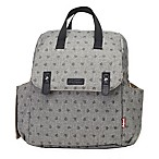 BabyMel™ Robyn Convertible Backpack Diaper Bag in Heart Grey