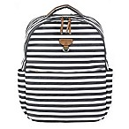 TWELVElittle On-the-Go Backpack Diaper Bag in Grey/White Stripe