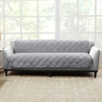 Sure Fit® Brushed Faux Linen Sofa Protector in Grey
