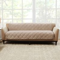 Sure Fit® Brushed Faux Linen Sofa Protector in Sand