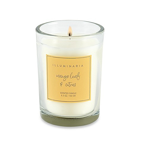 image of Illuminaria Mango Leaf and Citrus Candle Jar Gift Box