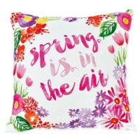 """Sara B """"Spring Is In The Air"""" Square Multicolor Throw Pillow"""