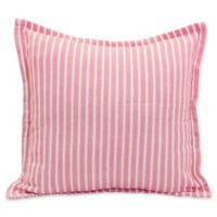 Bengal Stripe European Pillow Sham in Azalea