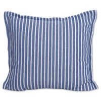 Bengal Stripe European Pillow Sham in Indigo