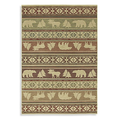 Shaw Timber Creek by Phillip Crowe 7-Foot 8-Inch x 10-Foot 10-Inch Rug in Light Multi
