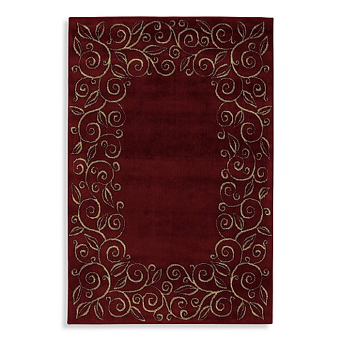 Shaw accents collection chateau rugs in garnet bed bath - Shaw rugs discontinued ...