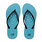 Women's X-Large Heart AquaFlops Shower Shoes in Aqua