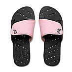 Women's Small Heart AquaFlops Shower Shoes in Black/Pink