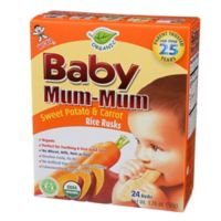 Hot-Kid® 24-Count Baby Mum-Mum® Sweet Potato and Carrot Rice Biscuits