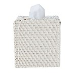 Caribbean White Rattan Boutique Tissue Box Cover