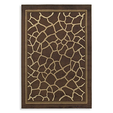 Shaw Concepts Collection 1-Foot 11-Inch x 3-Foot 1-Inch Giraffe Rug in Brown