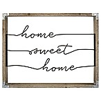 """Home Sweet Home"" 16-Inch x 20-Inch Framed Wire Wall Art"