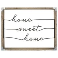 """""""Home Sweet Home"""" 16-Inch x 20-Inch Framed Wire Wall Art"""