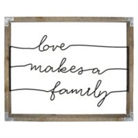 """""""Love Makes a Family"""" 16-Inch x 20-Inch Framed Wire Wall Art"""
