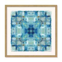 Casa Fine Arts 24-Inch Square Blue Fractal Framed Wall Art