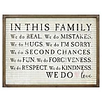 "Art Grooved ""In This Family"" 24-Inch x 18-Inch Wall Art"