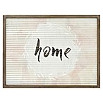 "Art Grooved ""Home"" 24-Inch x 18-Inch Wall Art"