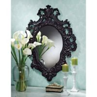 Design Toscano Madame Antoinette Salon 28-Inch x 36.5-Inch Oval Wall Mirror in Black