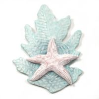 T.I. Design Reef Collection 10-Inch x 12-Inch Wall Art in Aqua