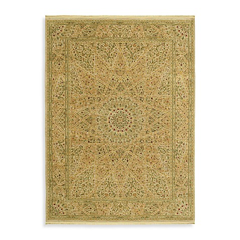 Shaw Antiquities Collection Mosque Medallion  Runner - 2-Foot 7-Inch x 8-Foot   Beige