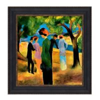 """Lady in a Green Jacket"" 21.75-Inch x 22.75-Inch Framed Canvas Replica Wall Art"