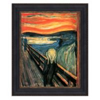 """The Scream"" 12.75-Inch x 14.75-Inch Framed Canvas Replica Wall Art"