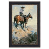 """""""Sentinel of the Plains"""" 15.25-Inch x 22.75-Inch Framed Canvas Replica Wall Art"""