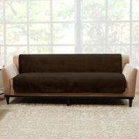 Sure Fit® Luxe Maze Sofa Protector in Chocolate