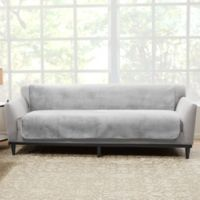 Sure Fit® Luxe Maze Sofa Protector in Grey