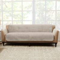 Sure Fit® Luxe Maze Sofa Protector in Cement