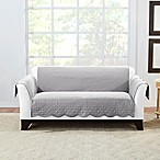 Sure Fit® Microtouch Reversible Loveseat Protector in Grey