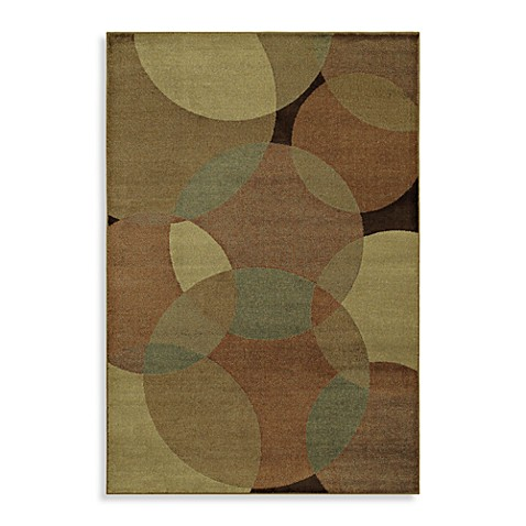Shaw Accents Collection Radius 5-Foot 3-Inch x 7-Foot 10-Inch Rug in Gold