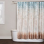 Saturday Knight Woodland Walk Shower Curtain in Blue