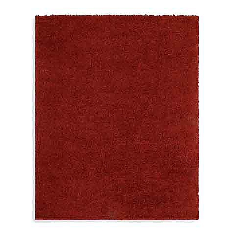 Shaw Ultra Shag Collection Cranberry Rectangle Rugs Bed