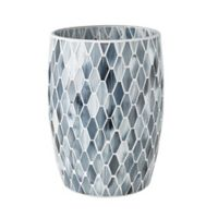 JLA Bath Mosaic Wastebasket in Grey