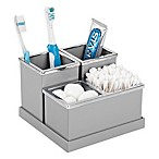 INTERDESIGN® Luci 4-Piece Vanity Organizer in Grey