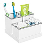 INTERDESIGN® Luci 4-Piece Vanity Organizer in White
