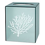 Saturday Knight Coral Reef Plastic Tissue Box Cover in Aqua