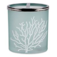 Saturday Knight Coral Reef Glass Toothbrush Holder in Blue