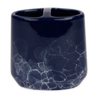 Saturday Knight Amalfi Stoneware Toothbrush Holder in Blue