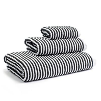 buy black and white hand towel bed bath beyond rh bedbathandbeyond com black and white bathroom towel sets black and white bath towels walmart