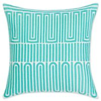 Trina Turk Racket Club Geometric 18-Inch Square Throw Pillow in Turquoise