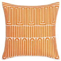 Trina Turk Racket Club Geometric 18-Inch Square Throw Pillow in Medium Orange