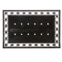 "Evergreen Geometric Border 24"" x 36"" Doormat Base in Black"