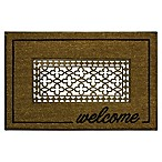 "Bacova 18"" x 30"" Grate Welcome Coir Door Mat in Brown"