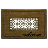 """Bacova 18"""" x 30"""" Grate Welcome Coir Door Mat in Brown"""