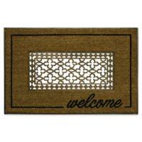 """Bacova 23.5"""" x 36"""" Grate Welcome Coir Door Mat in Brown"""