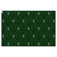 Weather Guard™ Lotus 24-Inch x 36-Inch Door Mat in Forest Green