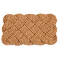 """Entryways Knot-ical 18"""" x 30"""" Coconut Fiber Doormat"""